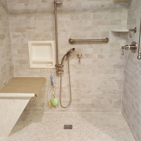 Bathroom Shower Remodeled on Long Island