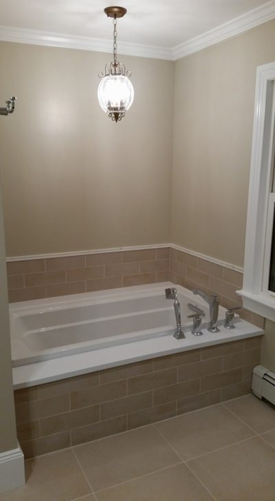 Finished Renovated Bathroom on Long Island