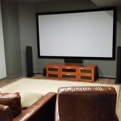 Finished Media Room on Long Island
