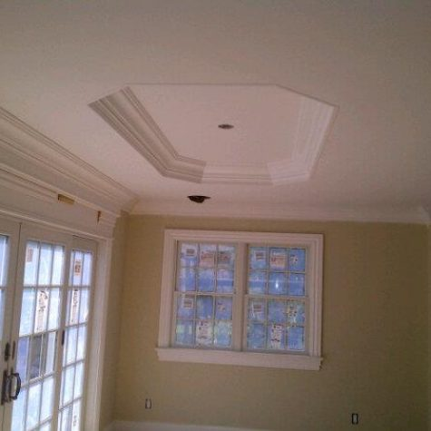Custom Coffered Ceiling Molding on Long Island